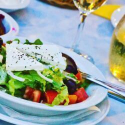 Moustakallis Tavern Village Salad Topped With Feta Cheese